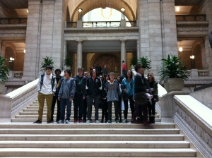 Hanging out at the Legislative Building