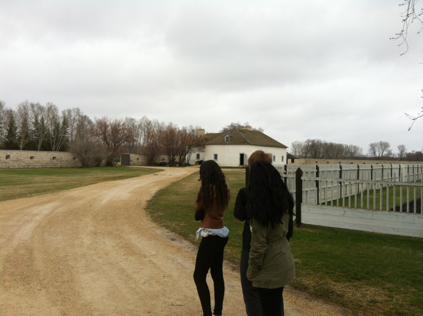 Looking at the gates where Treaties 1 & 2 were signed in 1870.