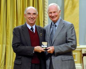 Desmond Morton with Governor General Johnston