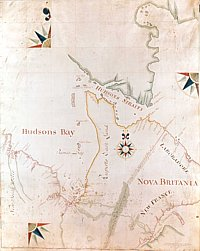 Hudson Bay map from Archives of Manitoba